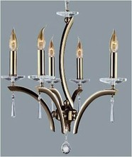 contemporary type candle holder chandelier ,copper/gold e14 bulbs chandeliers