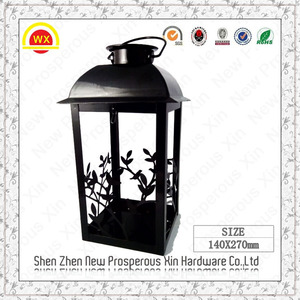 Wholesale custom wrought iron garden+lantern+candle+holder