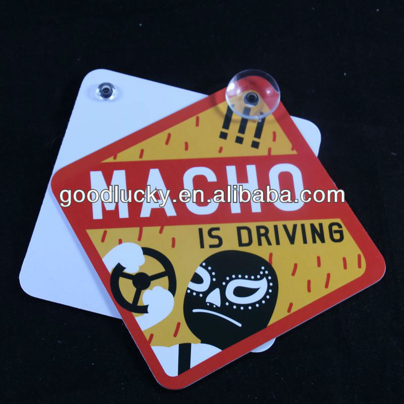 Promotion car gifts plastic pvc price sign board