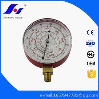 Red Air Conditioner 80mm 0-55kg/cm2/psi Refrigerant Freon Manifold Refrigeration Pressure Gauge