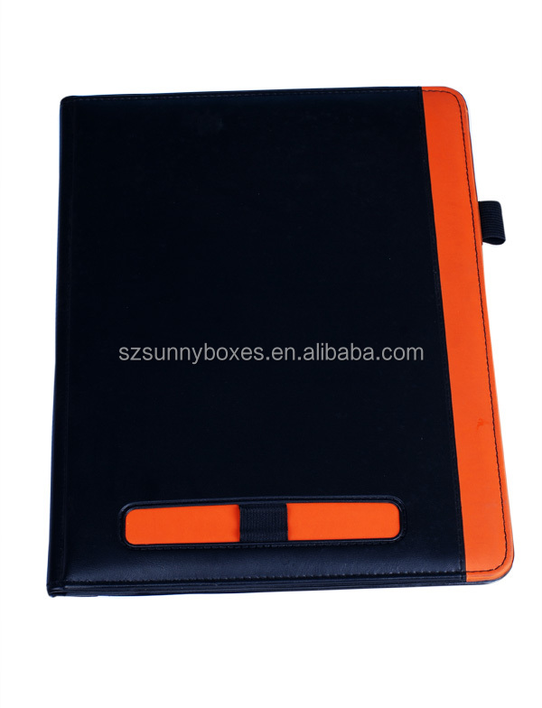PU Material and Presentation Folder Type portfolio With Card Holder