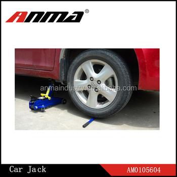 2 Ton Aluminum Floor Jack With Retractable Fold Forward Handle