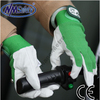 NMSAFETY synthetic gloves green fabric on the palm