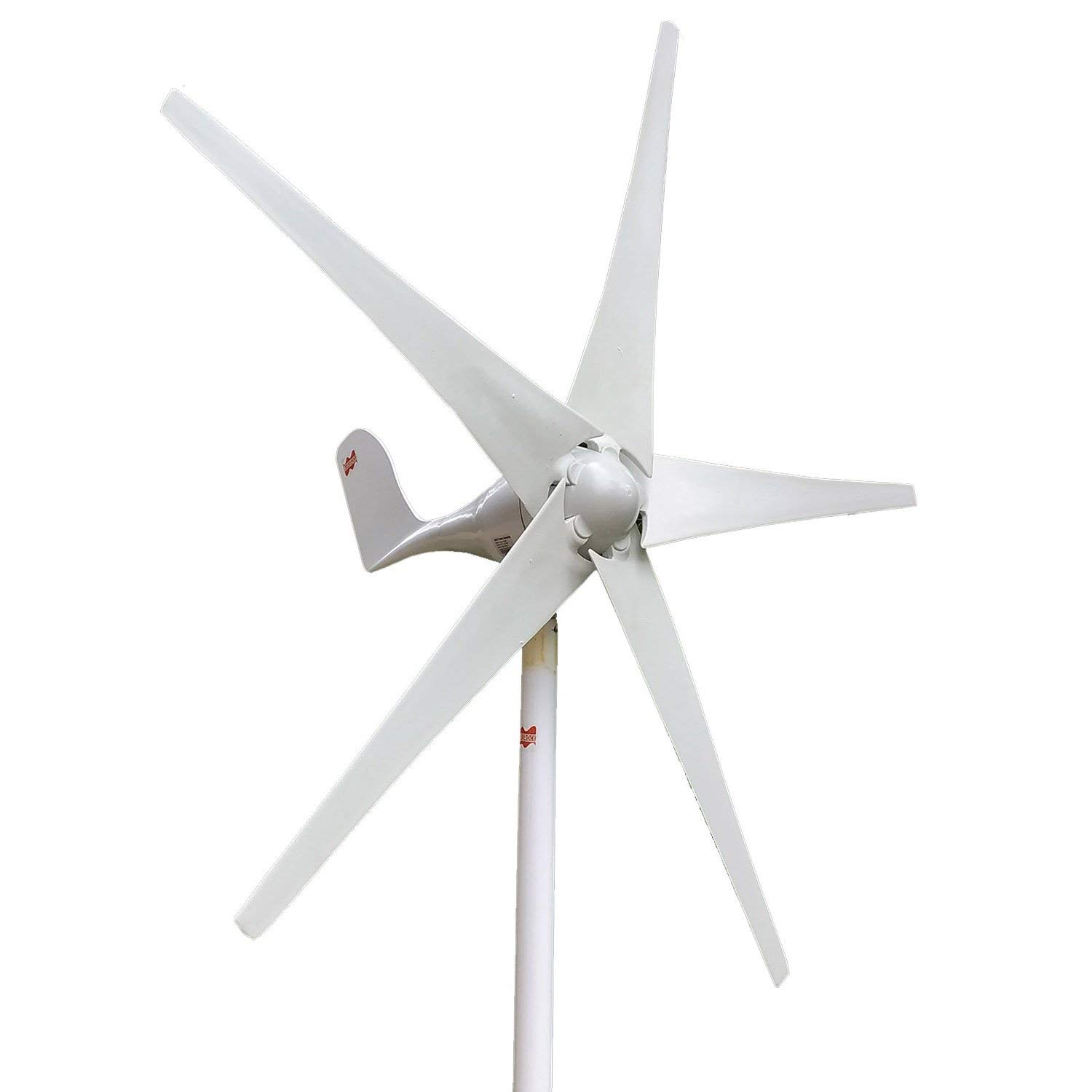 MarsRock Wind Turbine Generator Economy 2m/s Low Star-up Wind Speed 100W 200W 300W 400W Windmill AC 12V or 24V 5 Blades(300Watt 12volt)