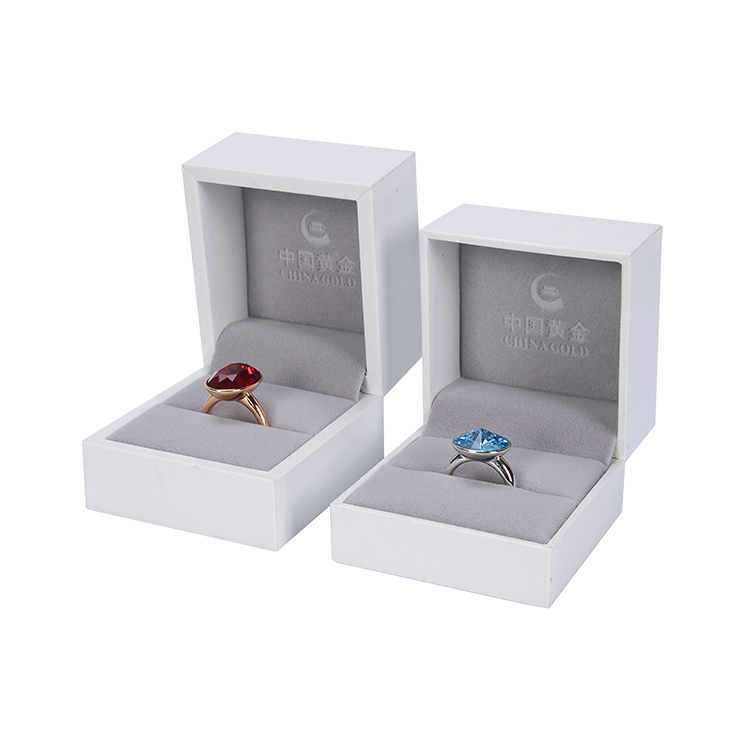 โรแมนติกบริสุทธิ์สีขาว Marry Custom งานแต่งงานเครื่องประดับแหวนของขวัญกล่อง