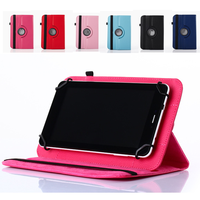 Universal Ultrathin PU Leather Book Flip Case Bag Cover Etui 10 8 7 inch for kindle Holder Stand Rotation Shield Stock