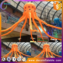 decoration orange inflatable balloon with lighted for promotion