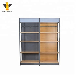 Guangzhou top quality Metal Wooden Shop Shelves for supermarket used stores