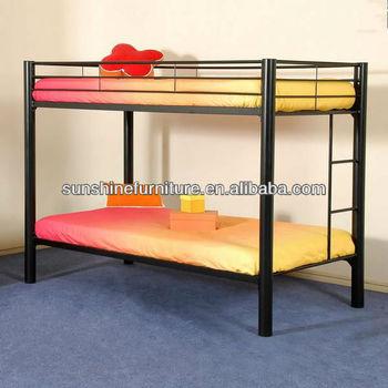 Steel Iron Frame Adult Metal Bunk Beds Black For Sale
