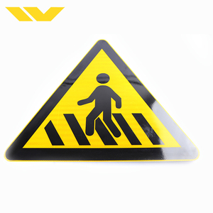PVC/aluminum customized reflective traffic sign for road safety