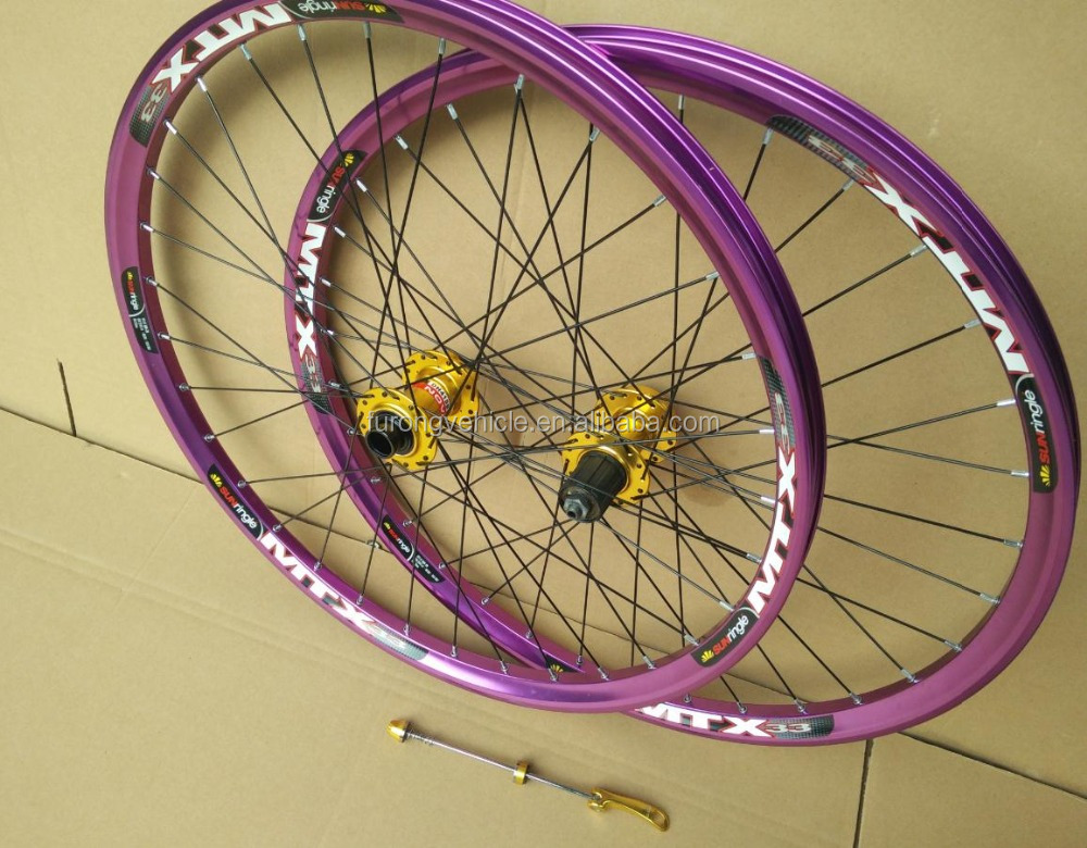 Aluminum alloy rims bike wheel 29 downhill bicycle wheels 26/27.5/29er wheel for DH/AM