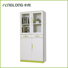 New design steel filing cabinet metal office cabinet glass door cupboard drawer file cabinet