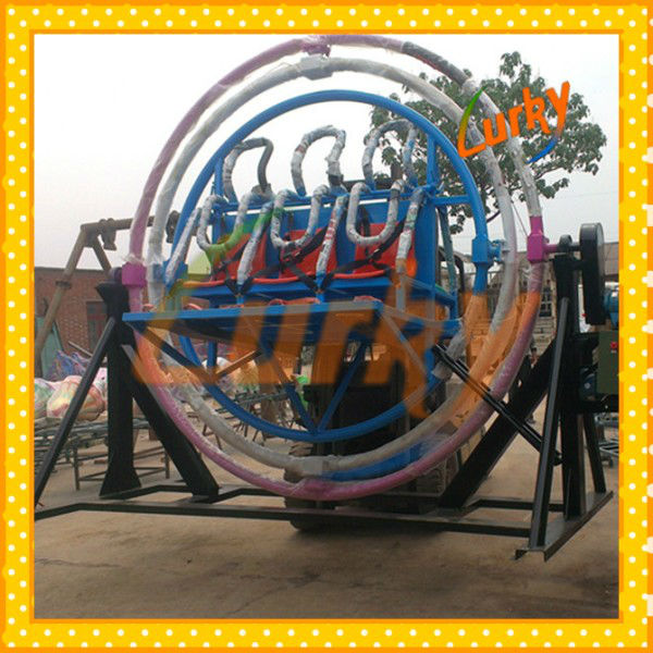 Good quality space ring made in china/human gyroscope rides for outdoor them park for sales