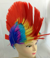 Red Mohawk Punk Kids Fancy Dress Wig Adults Party Disco Stag Hen Do Novelty Wigs FW2163