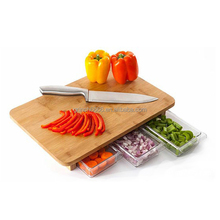 Wood Cutting Board With Drawer