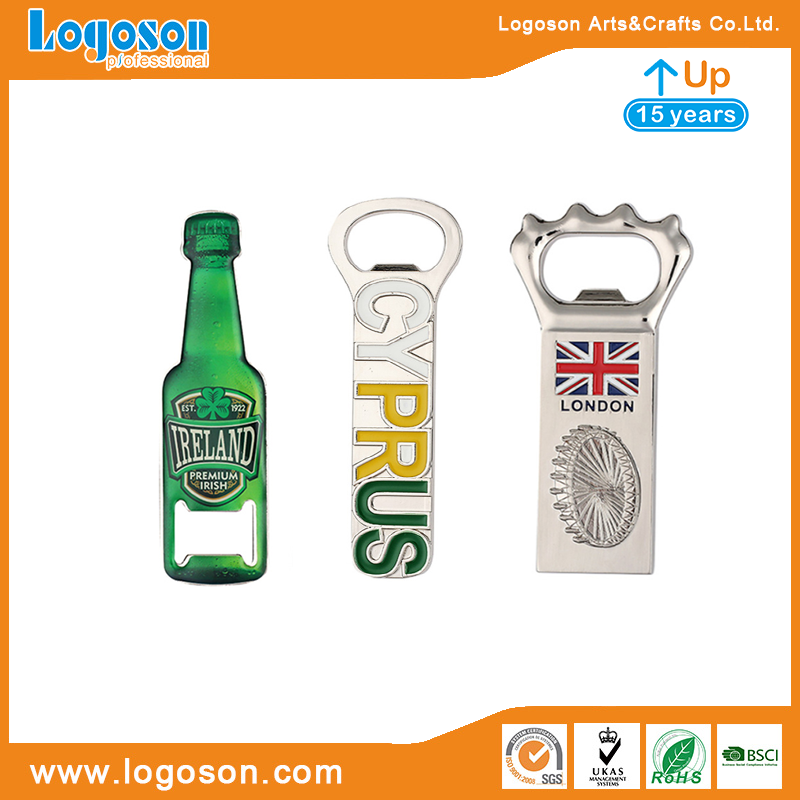 Souvenirs Manufacturer Logoson Custom Metal Decoration Wall Ornaments Cyprus Map Bottle Opener