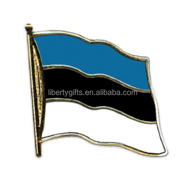 Estonian Estonia flag lapel pin badge