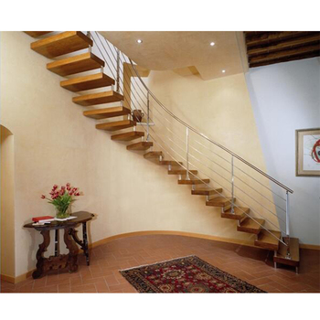 Modern Wooden Straight Staircase/Staircase Railing Handrails Designs
