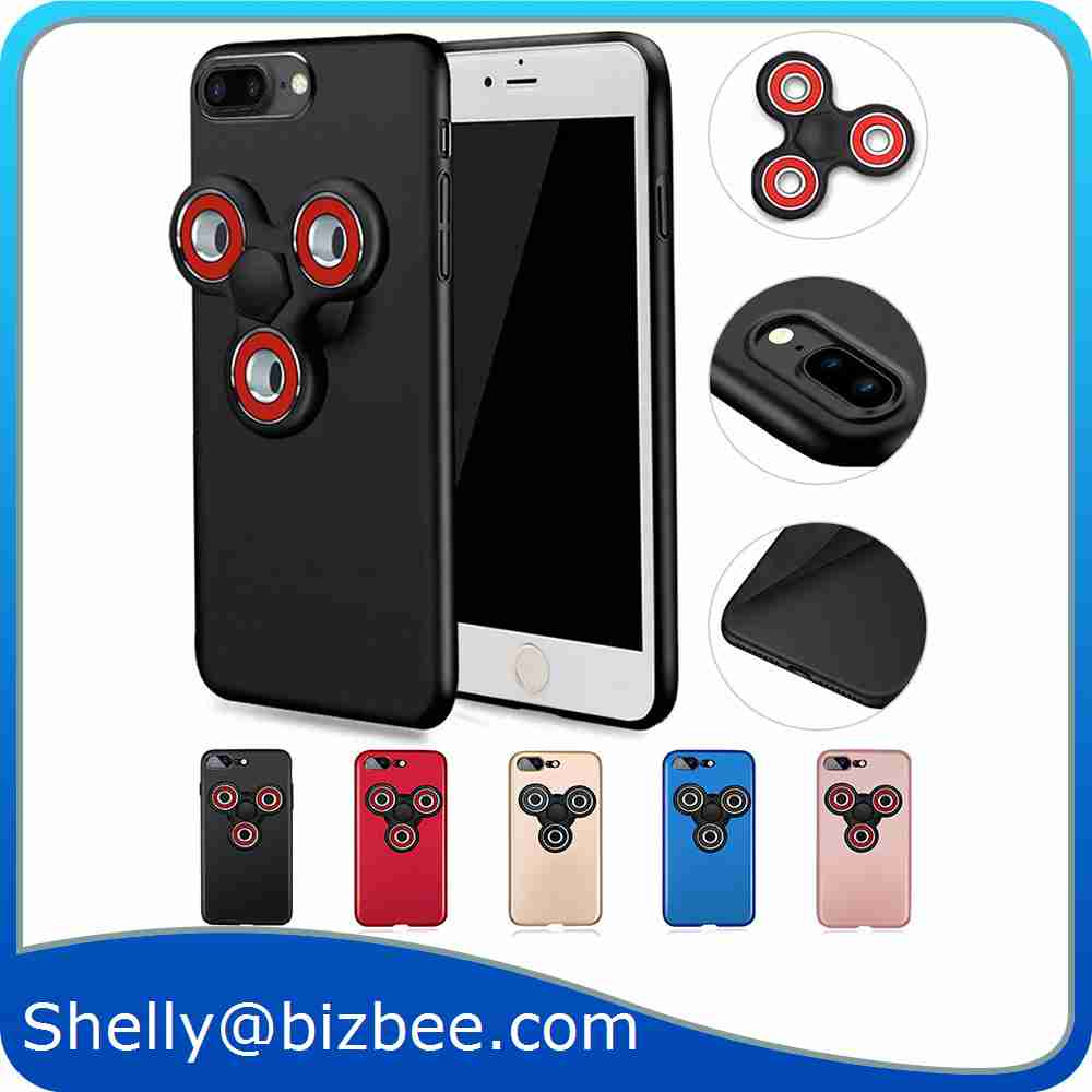 2017 Hot Selling 2 in 1 Finger Fidget Spinner Phone Case For Iphone 7 7 Plus Phone Case Phone <strong>Accessories</strong>