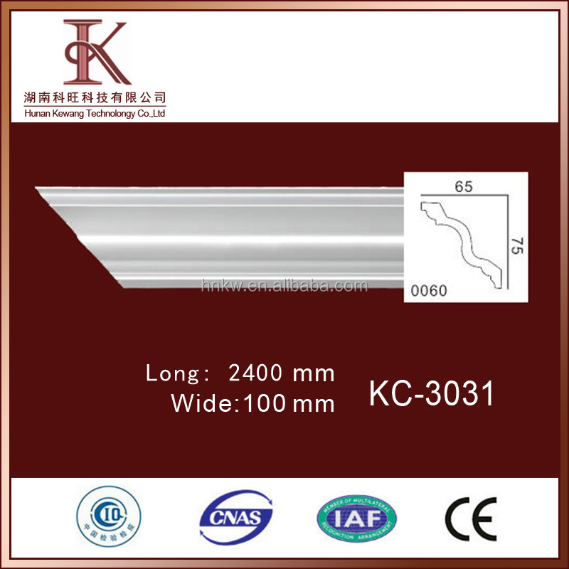 High Quality Polyurethane Plastic cornice Moulding/ Baseboard Moulding