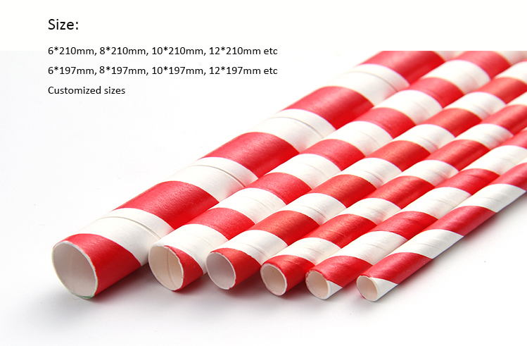 China biodegradable rainbow drinking paper straw