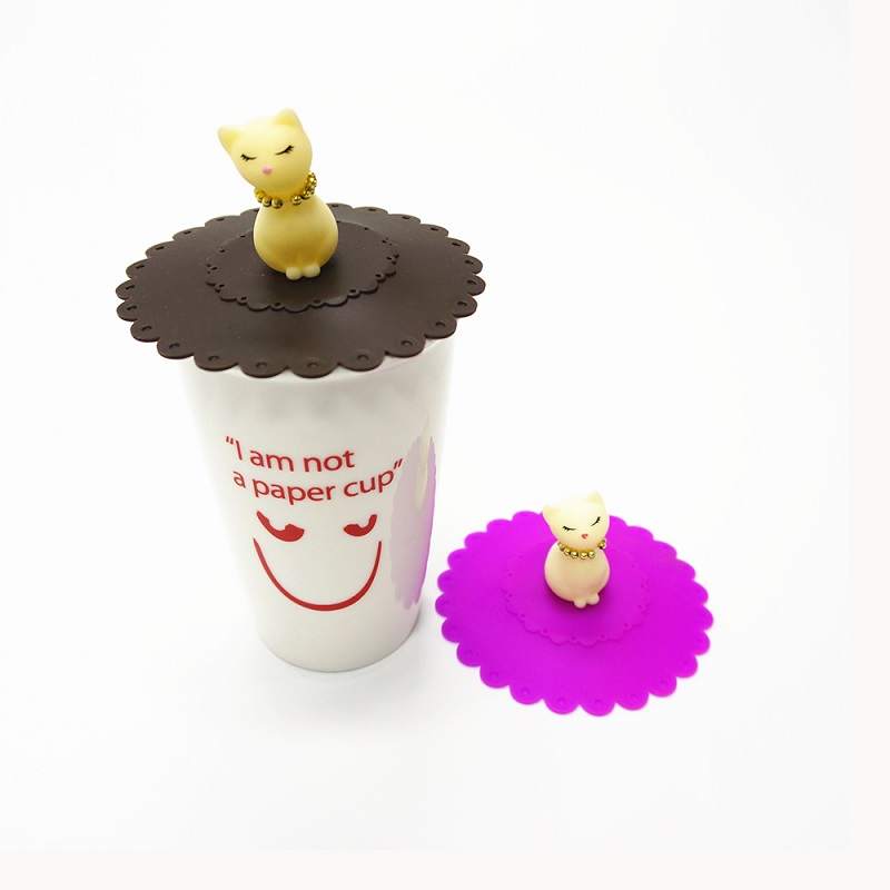 Sample Free Food Grade Reusable Silicone Lid for Coffee Cup