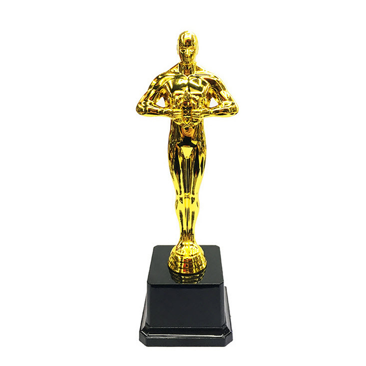 Beautiful custom and unique metal gold oscar trophy for souvenir