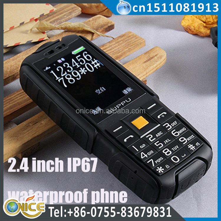 X6 ip67 waterproof rugged phone 2.4 inch gsm cdma 800mhz big battery rugged phone waterproof 6000 mah TF FM ip68 mobile phone