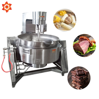 Double jacketed steam kettles 300l soup 50l 100l mixing pot heated industrial cooking pot aluminum cooker steam