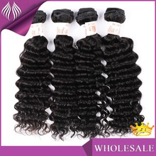 Top Quality 100 %indian Hair Weave Deep Wave Style