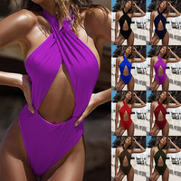 Women One-Piece Swimsuit Summer Beachsuit Swimwear Bathing Suit