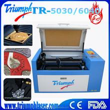 rubber stamp laser engraving machine rabbit laser engraver 50w 60w China