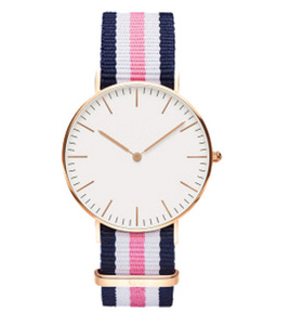 fashion luxury brand japan movt quartz stainless steel back nylon strap gold plated prices water resistant wrist watch for women