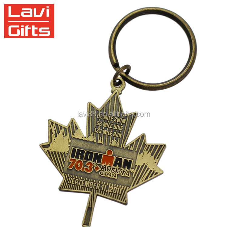 Personalized Custom Antique Country Canada Flag Key Ring Keychain