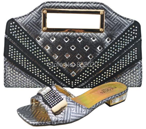 Matching Low Heel Shoe And Bag Set