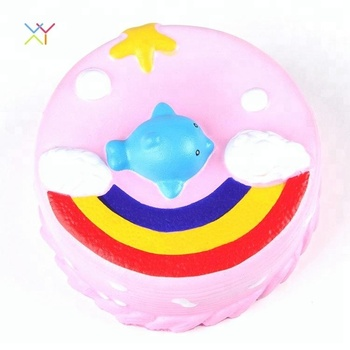 Promotional Squishy Unicorn Whale Rainbow Squishy Cake Toys Jumbo
