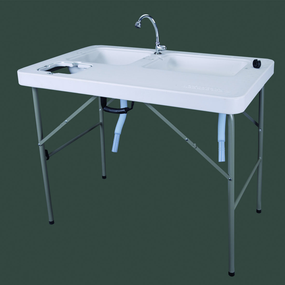 Folding Portable Fish Fillet /& Hunting /& Cutting  Leisure Table with Sink Faucet