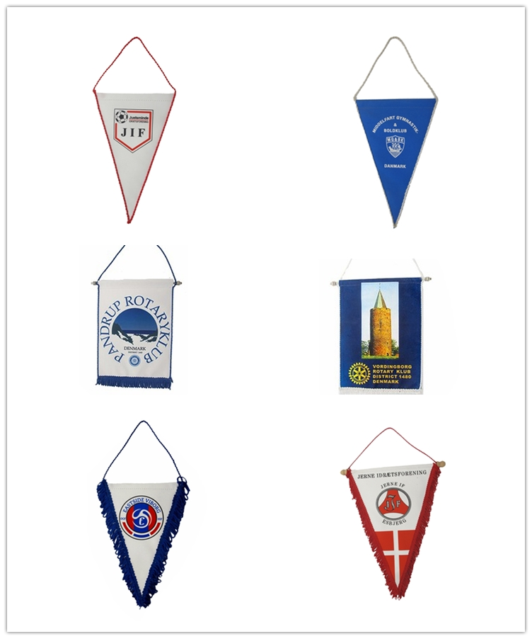 Custom felt pennants, blank without printing team soccer pennant