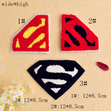 Fashion cute beard / lips / Superman logo towel embroidered clothing accessories patch paste