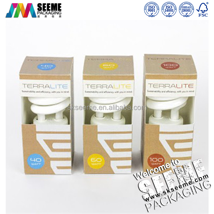 custom Energy saving light packaging kraft boxes/LED lamp packaging boxes