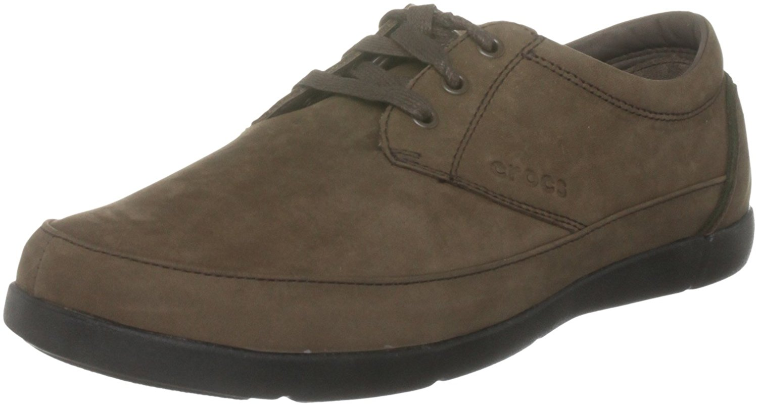 Get Quotations · Crocs Ellicott Lace Brown   Black M7 40.5 MAN 16b4b8e8f59