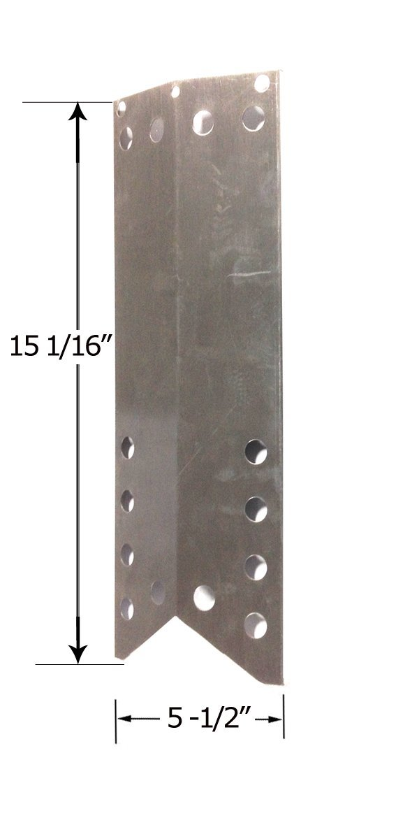 Stainless Steel Heat Plate for Kenmore 122.16643900, 16539, Nexgrill 720-0670B, 720-0718N, 720-0670E, 720-0677, 720-0718B and Kmart 640-26629611-0, 640-82960811-6 Model Grills