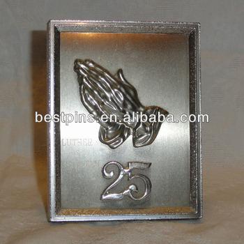 25th Wedding Anniversary Silver Plaque Favors Souvenir Wall