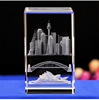 Wholesale crystal paper weight 3d laser crystal cube paperweight for souvenir