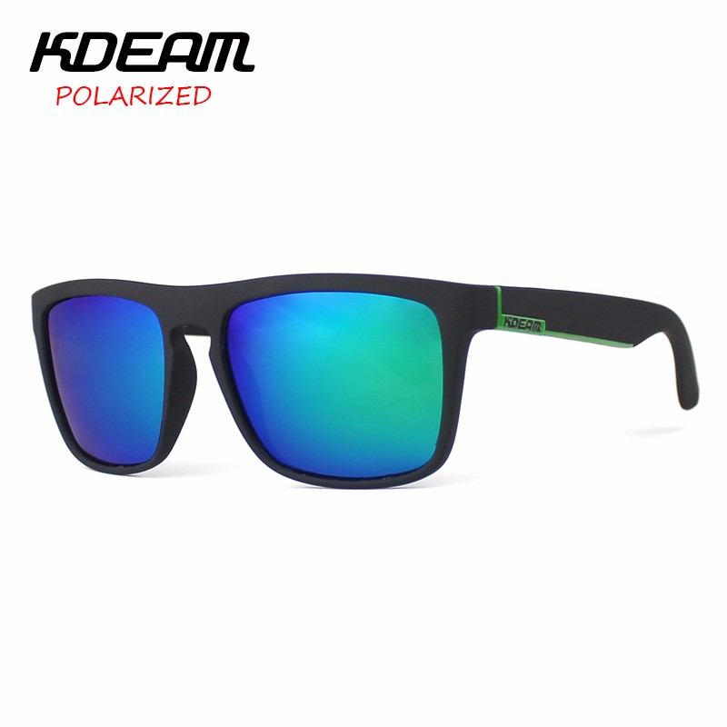 2c0dc7099 KDEAM Polarized Sunglasses Men Sport Eyewear Brand Designer Driving Oculos  De Sol Reflective Coating UV400 With Case KD156