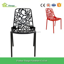 Outdoor Furniture Black Painted Metal Frame Forest Outdoor Garden Side Chair