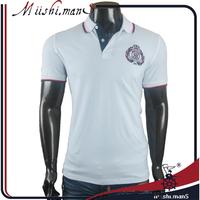 mens polo collar striped 2016 new design men polo t shirt wholesale cotton fabric