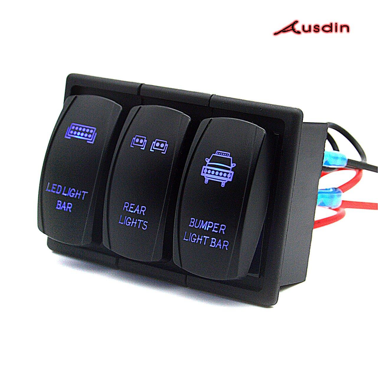 get quotations � switch panel,ausdin rocker switch professional marine  switch panel waterproof light switch led light bar