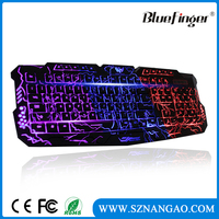USB Wired Russian English layout Backlit Computer gaming Keyboard