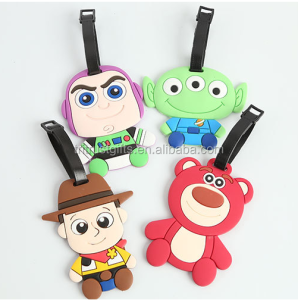 Toy Story PVC soft rubber luggage tag ID address holders suitcase luggage tags travel accessories